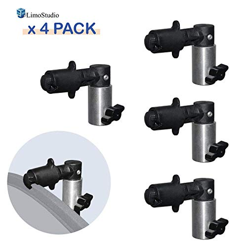 LimoStudio 4PCS Portable Photography Background and Reflector Disc Holding Clip, Light Reflector Holder Clamp, Mountable on Light Stand Tripod, Photo Studio, AGG2183