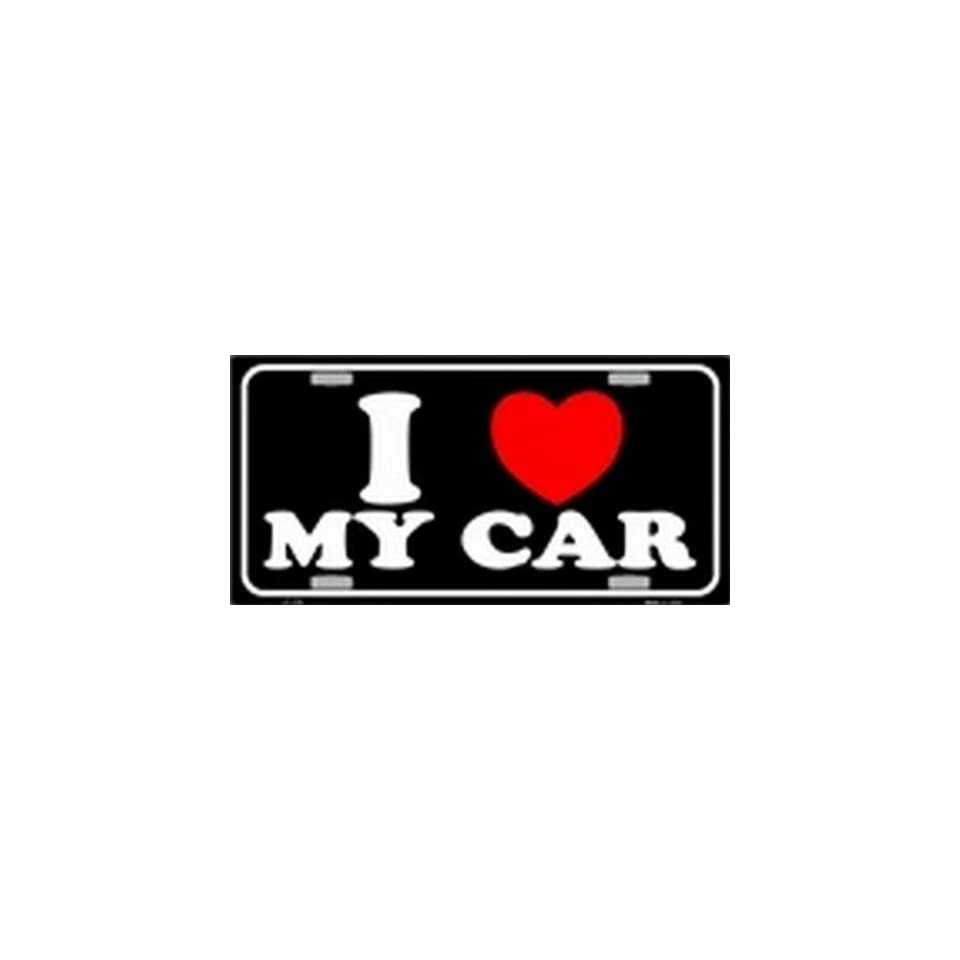 I Love MY Car Black License Plates Plate Tag Tags auto vehicle car front