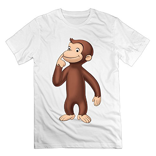 Graphic Design Colleges Vintage Male's Curious George White T Shirts