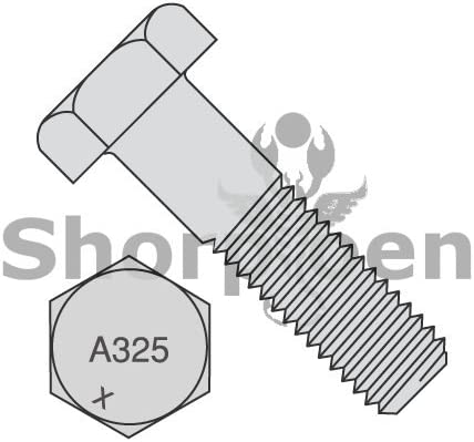 Heavy Hex Structural Bolts A 325 1 Hot Dipped Galvanized Made in North America 1-8 x 3 1//2 BC-10056A325-1G Box of 40 Weight 42.5 Lbs