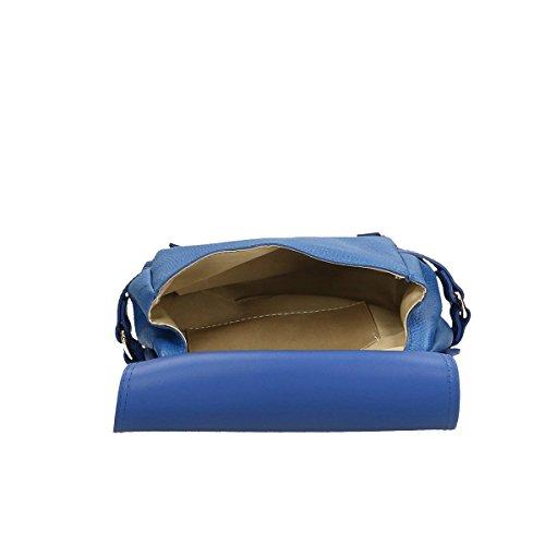 Chicca Borse Piel genuina bandolera 25x27x10 Cm Azul