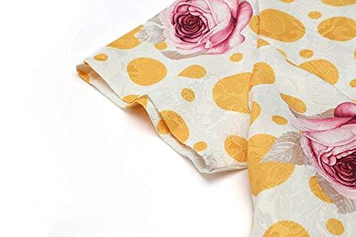 colore Hepburn Fuweiencore Stampa Da Con Cravatta Donna Vintage Mini 3 Giallo Tunica Elegante Vita Large Dimensione Abiti Floreale Casual shirt T Spiaggia Abito Nero WpWnUFOSqx