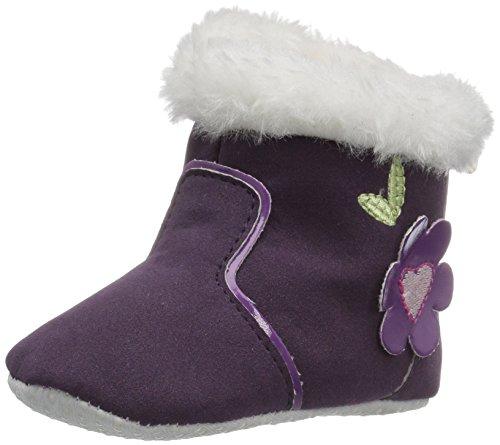Laura Ashley Girls' LA32800 Boot, Purple, 1 M US Infant