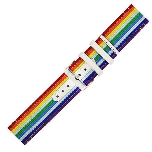 Jewh Creative Watch Band - Nylon NATO Watch Band 22mm for LG G Watch - Corlorful