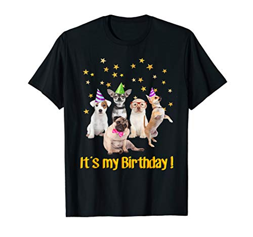 Boys Girls cute dogs Birthday puppy T-shirt