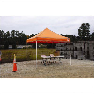 King Canopy Response/Relief Instant Shelter - 10'Wx10'dx8'h - Without Sides