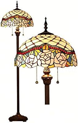 Luces de piso estilo Tiffany, vidrieras artesanales / lámpara de ...