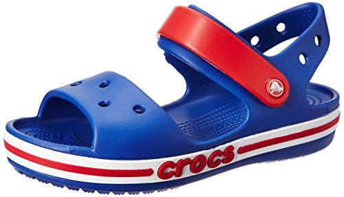 - Crocs Kids' Boys and Girls Bayaband Sandal, Cerulean Blue 3 M US Little Kid M US Toddler