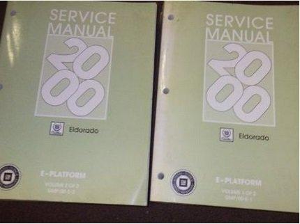 2000 GM Cadillac ELDORADO Service Repair Shop Workshop Manual Set FACTORY