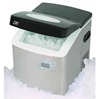 Sunpentown IM 101S Portable Ice Maker With LCD With Stainless Steel Body