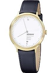 Mondaine Unisex MH1L2211LB Helvetica Analog Display Swiss Quartz Black Watch