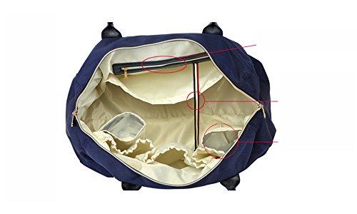 Versión coreana del bolso de la momia de la manera, bolso de hombro portable, bolso de múltiples funciones de la madre de gran capacidad, sale la bolsa de bebé ( Color : Azul oscuro ) Rojo