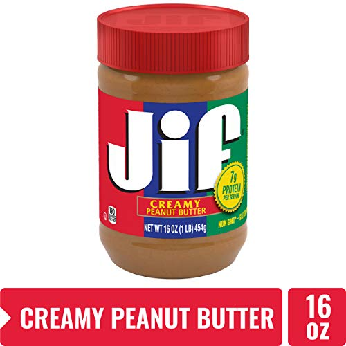 Jif Creamy Peanut Butter 16 oz  7g 7% DV of Protein per Serving Smooth Creamy Texture  No Stir Peanut Butter