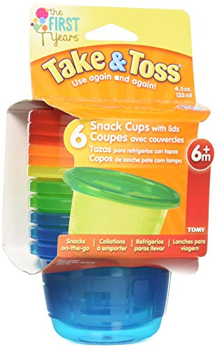 The First Years Take & Toss Snack Cups - 4.5 Ounce, 6 Pack ()