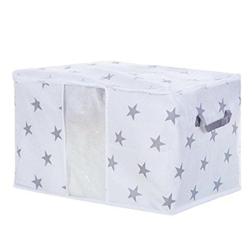 globaldeal plegable bolsa de almacenamiento edredón ropa manta Closet suéter Organizador Caja Bolsa, Star*