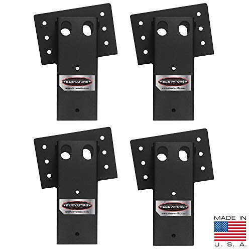 Elevators 4x4 Brackets for Deer Blinds, Playhouses, Swing Sets, Tree Houses. Made in The USA with Premium Construction Grade Steel. (1 Set of 4)