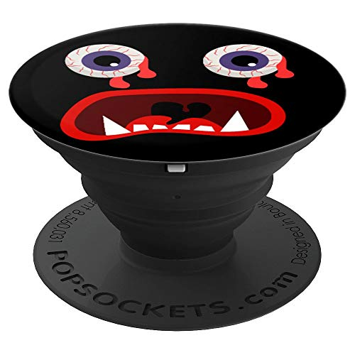 Scary Cartoon Eyes & Mouth Halloween Costume Gift Grip - PopSockets Grip and Stand for Phones and Tablets ()