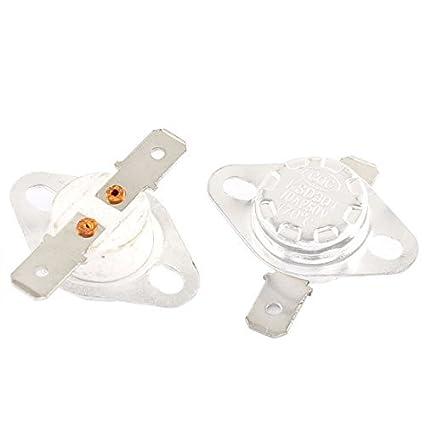 DealMux AC 250V 10A 170 Celsius NC Temperatura Controlada termostato KSD301 2 Pcs
