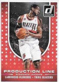 LaMarcus Aldridge 2014-15 Donruss Production Line Rebounds Portland Trail Blazers Insert Card #7 (Rebound Blazer)