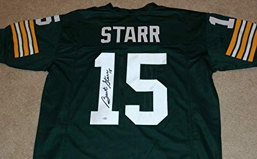 Bart Starr Signed Jersey - #15 Throwback + MM Holo - Autographed NFL Jerseys