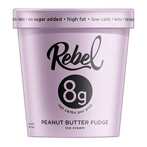 Rebel Ice Cream - Low Carb, Keto - Peanut Butter Fudge (8 Count)