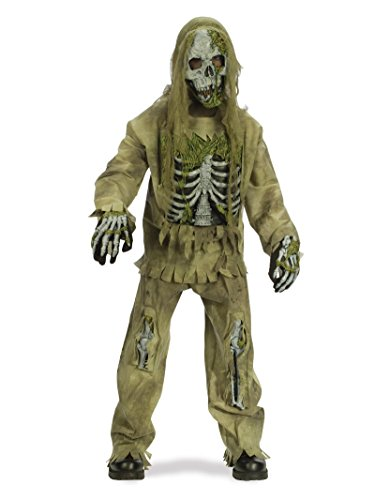 Fun World 31857 Skeleton Zombie Child Costume- Size 4-6 -