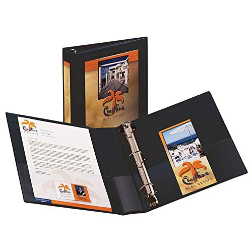 Avery Framed View Binder - Letter - 8.5amp;quot; x 11amp;quot; - 400 Sheet - 1.5amp;quot; Capacity - 1 Each - Navy ()