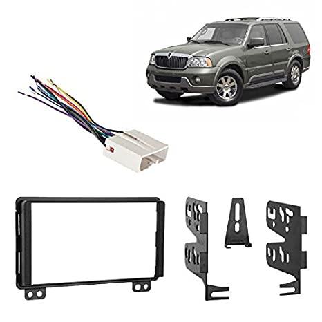 amazon com: lincoln navigator 2004-2006 w/oe nav & thx audio ddin radio  harness dash kit: car electronics
