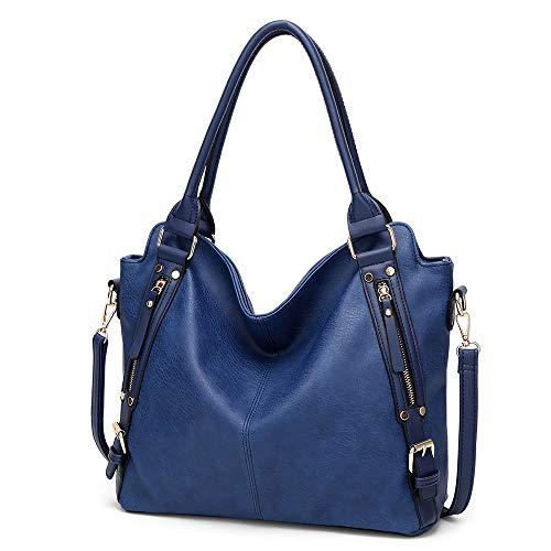 Capacité Vintage Pour Fourre Femme À Bandoulière Shopper Bleu Nouveau Sac Audburn Casual Grande tout Messenger AIxqPw0S1