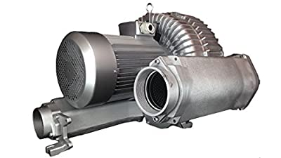 "AIR-3219: 40.00HP Three Phase 230/460VAC - REGENERATIVE BLOWER: Max Flow: 812CFM, Max Press: +185""H20, Max Vac: -177""H20, 4.00"" Threaded NPT Connections"