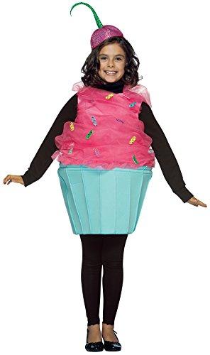 UHC Girl's Sweet Eat Cupcake Theme Dessert Food School Play Halloween Costume, Child M (7-10)