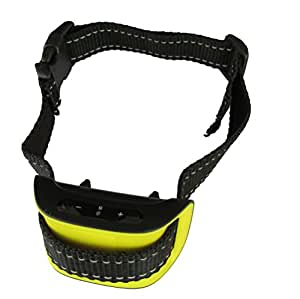 Our K9 Yellow Bark Collar. Small - Medium Active Dogs. Sound and Vibration Pain free Anti Bark Collar.