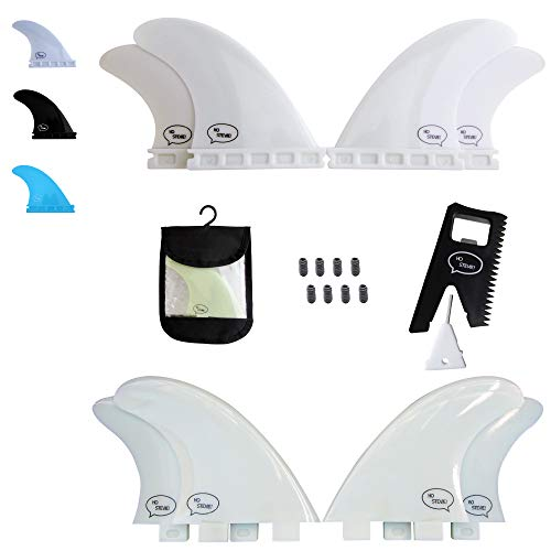 - Ho Stevie! Fiberglass Reinforced Polymer Surfboard Fins - Quad (4 Fins) FCS or Futures Sizes, Choose Color (White, Futures)