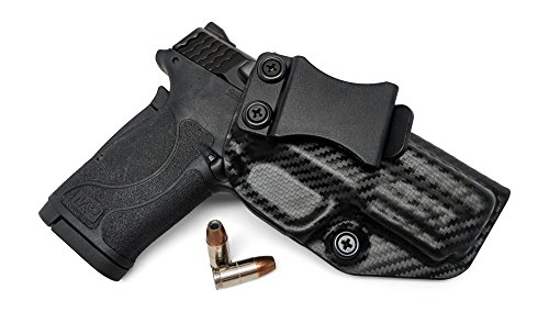 Concealment Express IWB KYDEX Gun Holster: fits Smith & Wesson M&P 380 Shield EZ - Custom Molded Fit - US Made - Inside Waistband Concealed Carry Holster - Adj. Cant & Retention