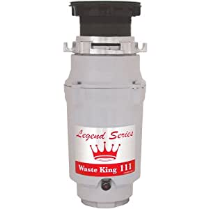 Waste King Legend Series 1/3 HP Continuous Feed Garbage Disposal with Power Cord - (L-111)
