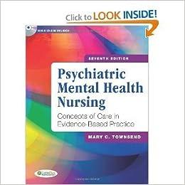 Psychiatric Mental Health Nursing 7th Edition Seventh Edition