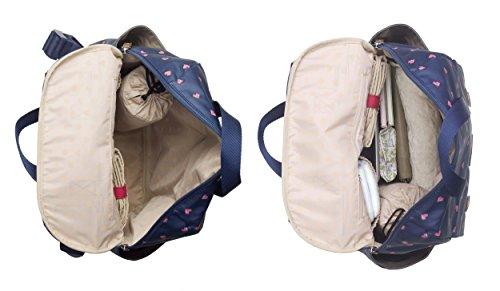 Babymel Wickeltasche Wickelrucksack 4-in-1 Robyn Navy Origami Heart BM 9465