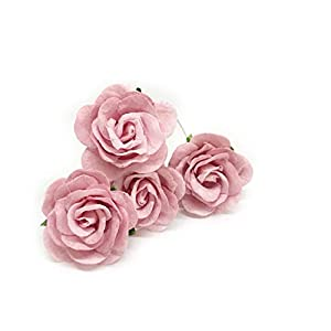 "1.5"" Blush Pink Paper Flowers, Mulberry Paper Flowers, Mulberry Paper Roses, DIY Wedding, Paper Flowers, Flower Backdrop, Blush Wedding, DIY Wedding Favors, 12 Pieces 50"
