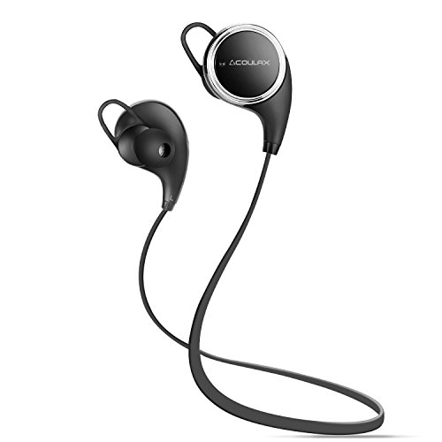 Bluetooth Kopfhörer in Ear Kopfhörer COULAX Bluetooth Kopfhörer Wireless Sport Stereo Earbuds Ohrhörer Headset Noise Cancelling In-Ear mit Mic/APT-X für iPhone 6s 6s plus und Android Phones
