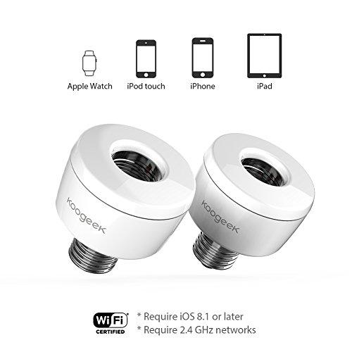 Koogeek Smart Socket WiFi Enabled E26 Light Bulb Adapter Works with Apple HomeKit Support Siri Voice Control Home App on 2.4Ghz Network by Koogeek (Image #3)