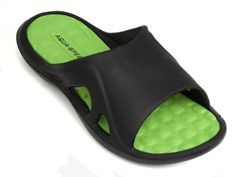 Aqua-Speed-Men Bathing Shoes / Thongs Montana (black/red, 40)