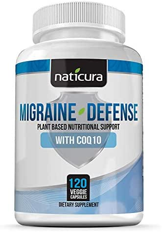 Migraine Relief Headache Vitamin Supplement – Neurologist Recommended to Help Prevent Pain, Nausea, Sensitivity and Auras from Tension and Chronic Strain - 120 Vegan Caps with PA Free Butterbur