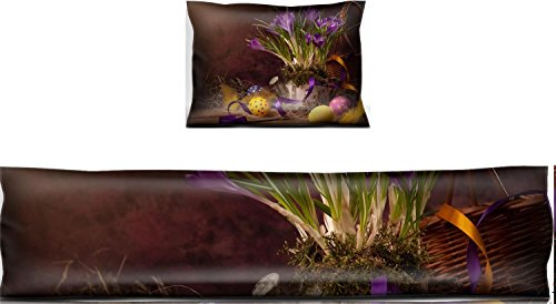 Liili Mouse Wrist Rest and Keyboard Pad Set, 2pc Wrist Support vintage Easter card spring flowers on a wooden background Photo 12782445