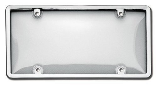 Cruiser Accessories 12.25 x 6.31 x 0.5 Inches 60310 Combo License Plate Shield/Cover, Chrome/Clear Cruiser Acrylic License Plate Bubble