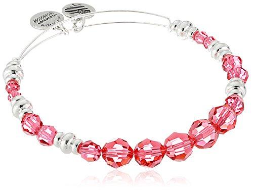 Alex and Ani Swarovski Beaded Rouge Expandable Wire Bangle Bracelet