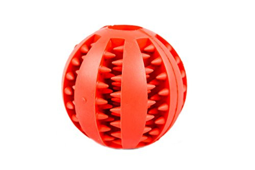 TheShoppingWarrior Dog Treat Toy For Pet Training/Dental/Anxiety Relief, Non-Toxic Rubber IQ Balls For Dogs - For Tooth Cleaning/Playing/Chewing (7cm, - Boston Shopping Centre