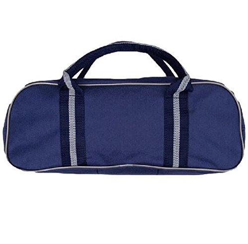 Schüssel Sports Zubehör Ball Storage Carrier Reisetasche Nylon 3Schale Tasche Marineblau