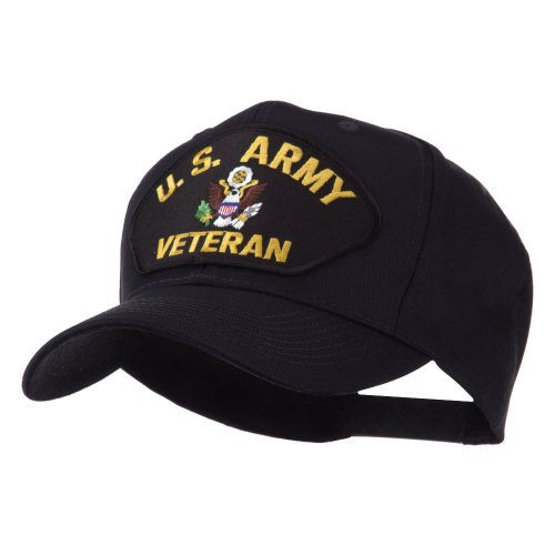 e4Hats.com Veteran Military Large Patch Cap - US Army OSFM (Military Caps Veteran Ball)