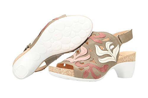 25 Women 2 Think macchiato 82569 kombi Traudi Sandals Beige nva686q4fw