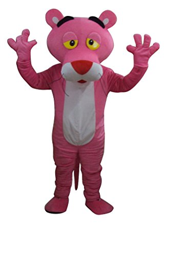 Pink Panther Adult Mascot Costume Fancy Dress Outfit